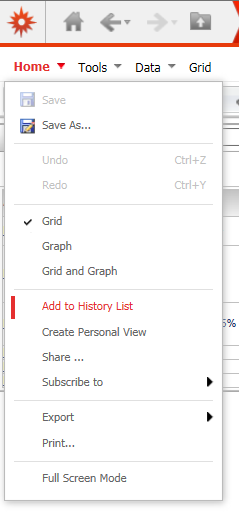 """Select """"Add to History List"""""""