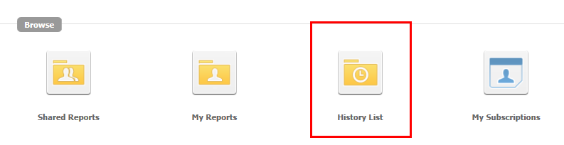 History List Folder