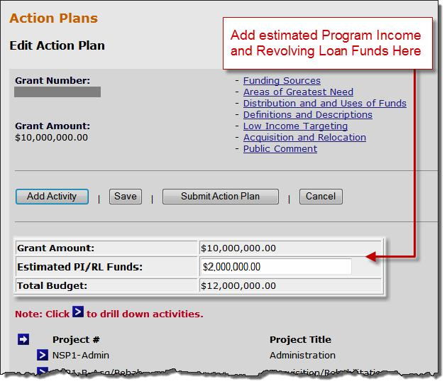Estimated PI/RL Funds