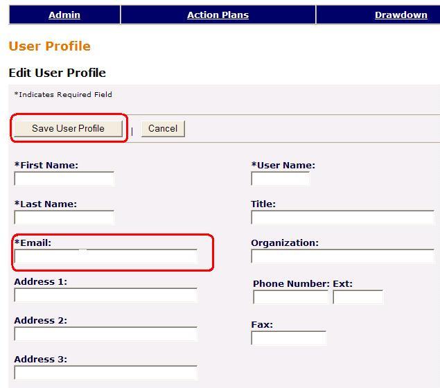 "Select ""Save User Profile"""