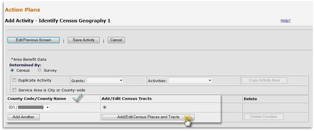 Select Census Tracts and Block Groups