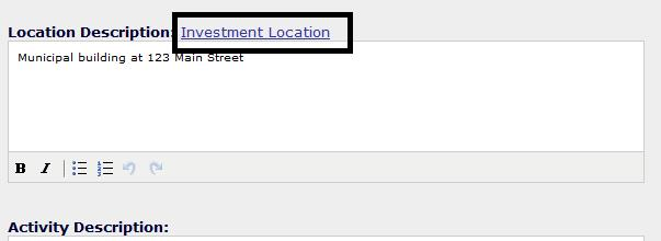 Investment Location Link
