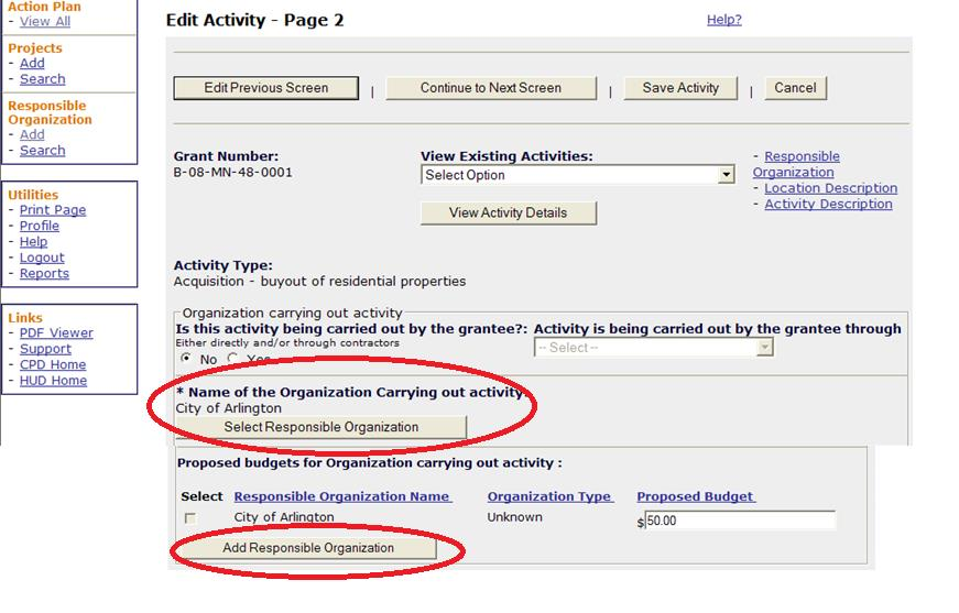 Edit Activity Page 2 Screen