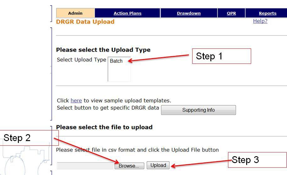 "Three-Step Process for Uploading ""Batch"" Data"