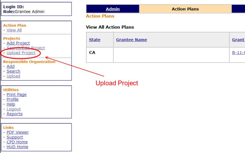 Upload Projects Link