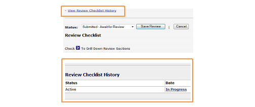 Review Checklist History