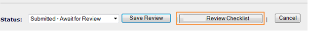 """Select the """"Review Checklist"""" Button"""