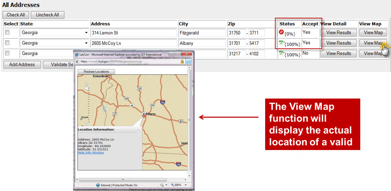 View Map Function
