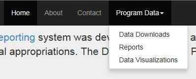 Select Program Data > Data Downloads Link