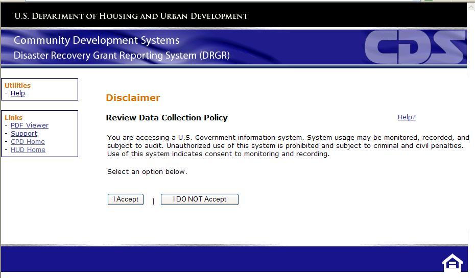 DRGR Disclaimer Statement