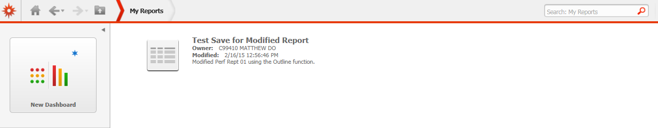 View My Reports