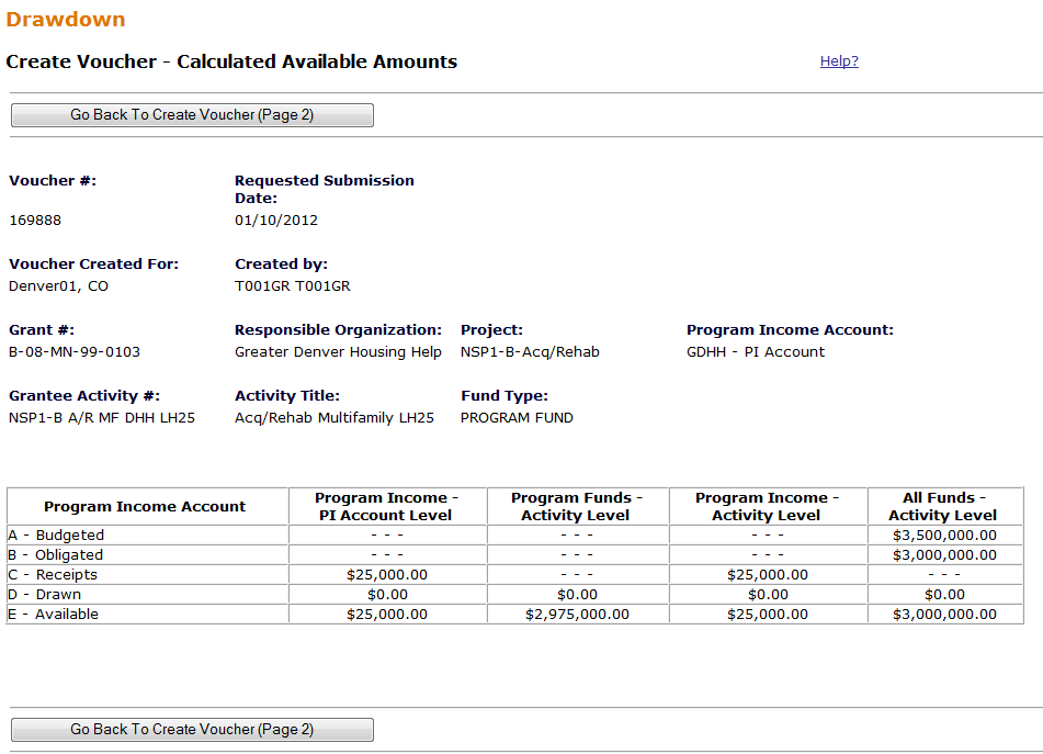 Calculated Available Amount